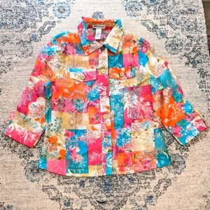 Drapers & Damons colored lightweight jacket size M
